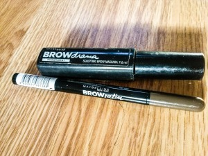 Brow gel - Brow Drama (translucent) by Maybelline Brow Pencil - Brow Satin (medium brown) by Maybelline